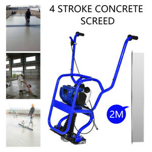 New Gas Concrete Wet Screed Power Screed Cement 6 56ft Board 37 7cc 4 Stroke