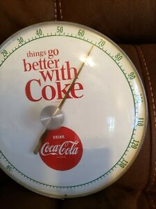 Vintage 1950s DRINK coca Cola Thermometer Things go Better with COKE ADVERTISING