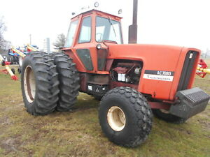 Allis Chalmers 7080 Tractor 4846 Hours Sn 2019 14 Front Weights