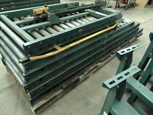 28 Of Hytrol Gravity Roller Conveyor Sections With Legs And Lift Gate