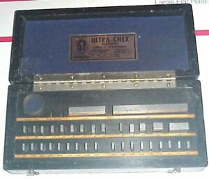 Vintage Gage Block Set Sheer Tumico Co 35 Pc Ultra Chex Inspectoset Used