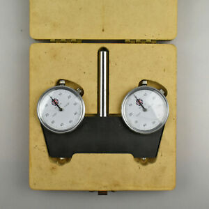 Amt Spindle Square Gage With Case 24 313 9 Dial Indicators 001 0 25 Range
