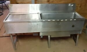 Underbar Workstation With 7 Circuit Sealed Cold Plate Ice Bin Drain Board