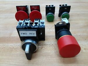 Lot Of 6 Baco Push Button Selector Switch Emergency Stop