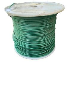 Green Hook up Wire 18awg Ul 1180 19 Strand 300v Silver Coated Copper Tfe 200c