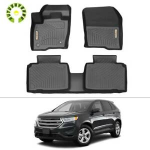 All Weather Floor Mats Liners For 2015 2020 Ford Edge Tpo Rubber 1st 2nd Row