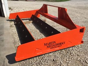 Quick Attach Skid Steer Drag Land Leveler Rock Driveway 6 7 8