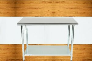 30 X 48 In Stainless Steel Work Prep Table With Undershelf Kitchen Restaurant