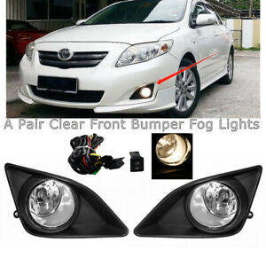 Led Fog Driving Lights W bezel switch wiring For Toyota Corolla altis 2008 2010