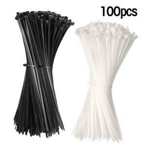 Heavy Duty 100pcs 8 To 18 nylon Industrial Cable Wire Zip Ties Self locking