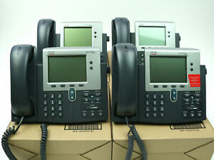 Lot Of 4 Cisco Cp 79440 7942 Series Unified Ip Business Voip Phone Telephones
