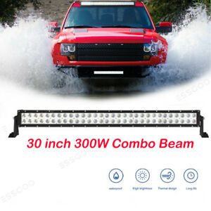 New 30 Inch 300w Led Work Light Bar Flood Spot Combo Offroad Suv Atv 4wd Ute