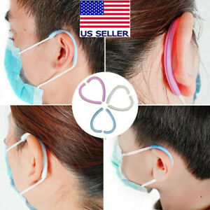 5 Pair Soft Silicone Face Mask Ear Guard Protector Hook ships From Usa