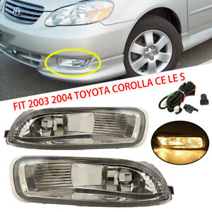 2003 2004 Toyota Corolla Ce Le S Bumper Driving Jdm Clear Fog Light Lamp Harness