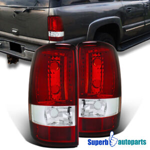 For 2000 2006 Chevy Denali Yukon Tahoe Tail Lights Brake Lamp Red