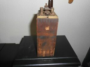 Original Vintage Model T Ford Old Buzz Box Antique Wooden Ignition Coil Parts