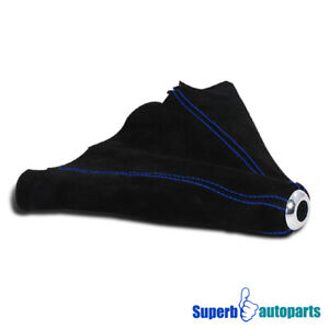 For Civic Integra 5 Sp Suede Leather Manual Shift Boot Cover W Blue Stitch Trim