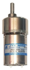 12 Vdc_80 Rpm Gear Motor_new_dependable_reliable_small_located Usa_free Shipping