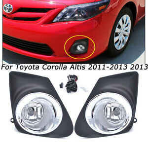 Clear Bumper Fog Lights For Toyota Corolla Altis 2011 2012 2013 Driving Fog Lamp
