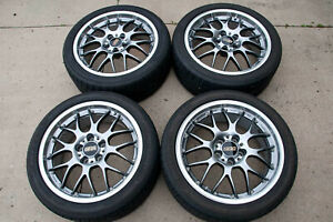 18x8 40mm 5x114 3 Bbs Rs Gt2 Forged 2 Piece Wheels With Kumho 235 40r18 Tires