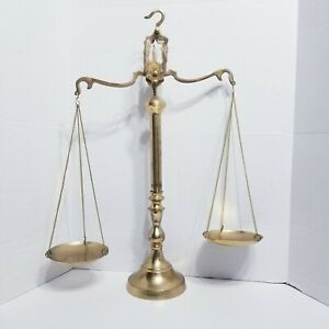 Vintage Brass Weight Scale 23 Antique Heavy Statue Balance Justice Lawyer Decor