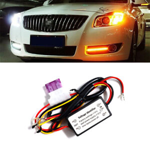 Universal Car Automatic Dimmer Led Daytime Running Light On Off Controller Box