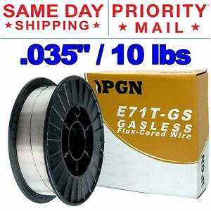 E71t gs 035 0 9mm Gasless Flux Core Mild Steel Mig Welding Wire 10 Lbs Spool