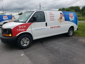Carpet Cleaning Van 2015 Chevy 3500 Extended With Sapphire 370ss Truckmount
