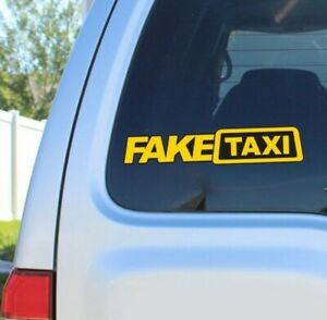 Funny 2pcs Fake Taxi Car Auto Sticker Faketaxi Decal