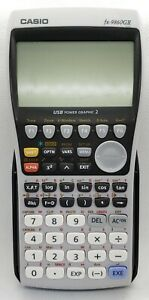 Casio Fx 9860gii Graphing Calculator Used Tested Works With Cover