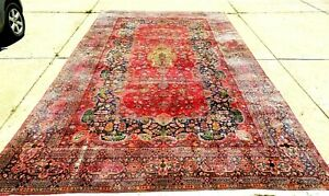 Beautiful Special Interesting Antique Oriental Rug Large Size 10 6 X 19 2