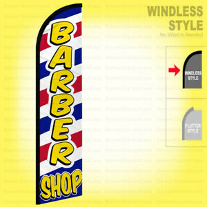 Barber Shop Windless Swooper Flag 2 5x11 5 Ft Tall Feather Banner Sign Wf338