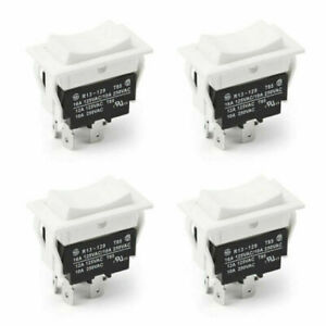 4pcs Rectangle Rocker Switch Momentary 4pin On off on 125 250v 38mm Sci Rohs