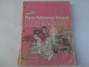 Massey Ferguson Parts Reference Manual For Combines Tractors Engines Backhoes