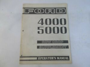Ford 4000 5000 Tractor Row Crop Supplement Operator s Manual