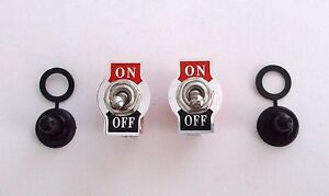 2 Bbt Vintage Type On off 20 Amp Heavy Duty Toggle Switches W Waterproof Boots