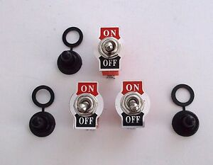 3 Bbt Vintage Type On Off 20 Amp Heavy Duty Toggle Switches Waterproof Boots