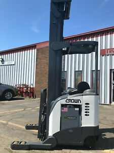2001 Crown 321 Reach Rr5020 45 4500lbs Electric Forklift