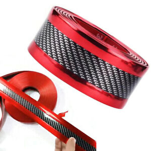 Accessorie 5d Car Stickers Carbon Fiber Rubber Door Sill Rubber Protector Parts