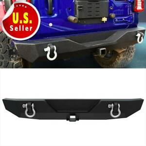 Textured Powder Coated Rear Bumper W D rings For 2018 2020 Jeep Wrangler Jl