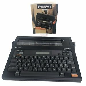 Vtg Canon Typestar 5 S 50 Electronic Typewriter Tested Works With Manual Vintage