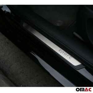 For Nissan Note Door Sill Cover Protector Guard Flexible Stainless Steel Trim