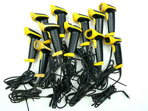 Lot Of 11 Wasp Model Wlr8905 Wired Usb Long Range Barcode Scanner Tested