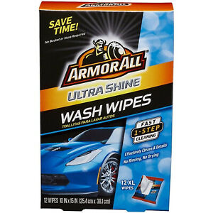 Car Wash Cleaning Wipes Interior Exterior Cleaner Truck Vehicle Care 12 Count
