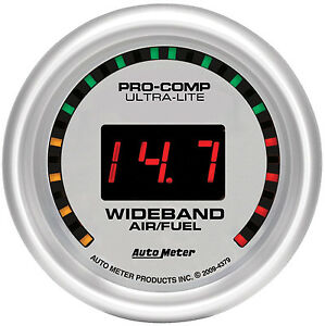 Autometer Ultra Lite street Wideband O2 Air Fuel Ratio Gauge 2 1 16 52mm