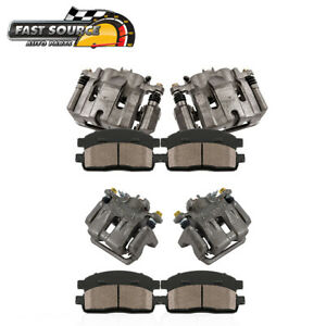 For 2009 2010 2011 2014 Acura Tl Front Rear Brake Calipers Ceramic Pads