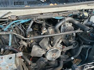 Powerstroke Ford 7 3l Turbo Diesel Engine And Trans Running And Driving Pull