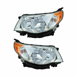 For Subaru Forester 2009 2010 Pair New Left Right Headlight Assembly