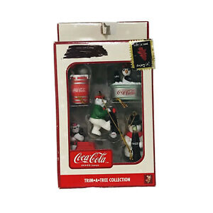 Vintage Coca-Cola Christmas Ornaments Trim a Tree Collection Penguin Seal Bears
