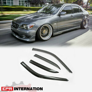 Oe Style Carbon Fiber Wind Visor Deflector Kit For Lexus Sxe10 Altezza Z Zenki